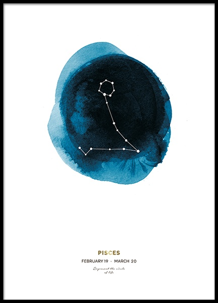 Pisces Poster in the group Prints / Kids posters at Desenio AB (8644)