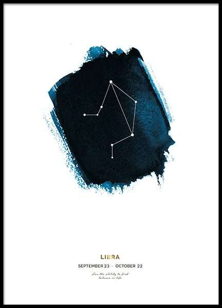 Libra Poster in the group Prints / Gold & silver at Desenio AB (8651)