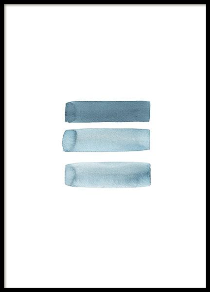 Grey blue aquarelle poster in the group Prints / Sizes / 50x70cm | 20x28 at Desenio AB (8665)