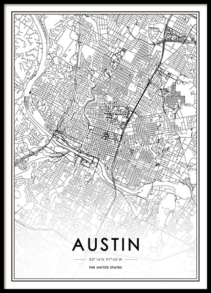 Austin Poster in the group Prints / Sizes /  at Desenio AB (8716)