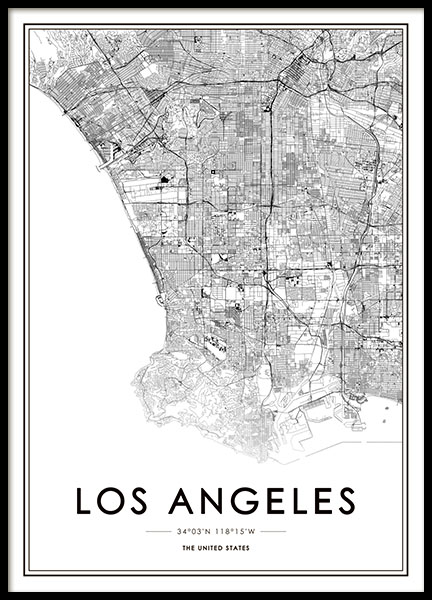 Los Angeles Poster in the group Prints / Sizes / 50x70cm | 20x28 at Desenio AB (8718)