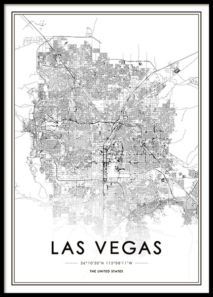Las Vegas Poster in the group Prints / Maps & cities at Desenio AB (8725)