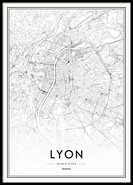 Lyon Poster in the group Prints / Maps & cities at Desenio AB (8727)