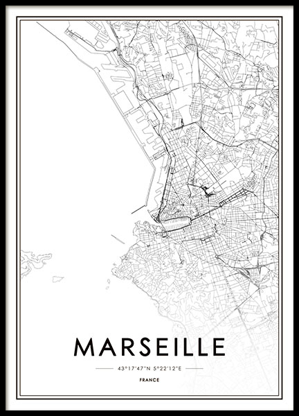 Marseille Poster in the group Prints / Sizes / 50x70cm | 20x28 at Desenio AB (8728)