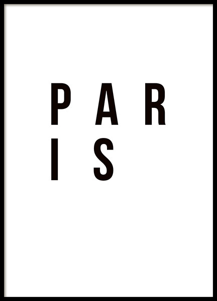 Paris Poster in the group Prints / Maps & cities at Desenio AB (8730)