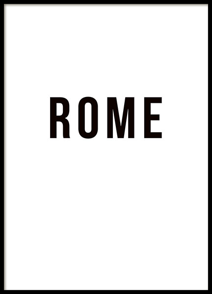 Rome Poster in the group Prints / Maps & cities at Desenio AB (8731)