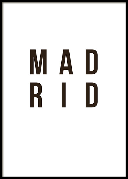 Madrid Poster in the group Prints / Sizes / 30x40cm | 12x16 at Desenio AB (8732)