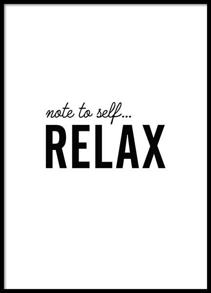 Relax Poster in the group Prints / Sizes / 21x30cm | 8x12 at Desenio AB (8735)