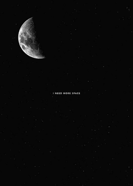 I Need More Space Poster in the group Prints / Typography & quotes at Desenio AB (8752)
