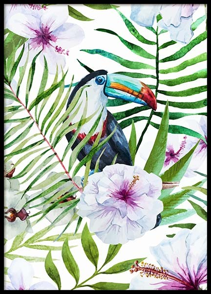 Toucan In Paradise Poster in the group Prints / Art prints at Desenio AB (8777)