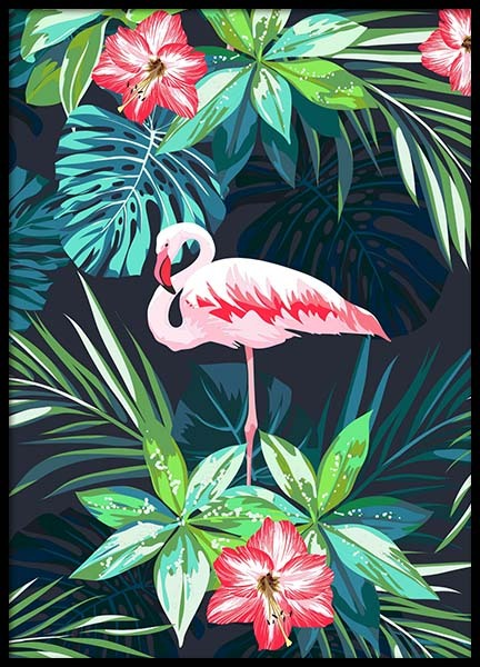 Flamingo In Paradise Poster in the group Prints / Art prints at Desenio AB (8779)