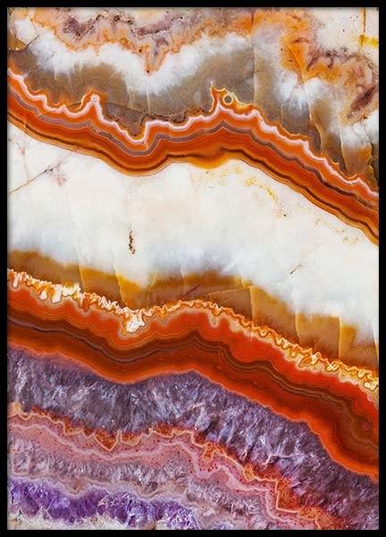 Agate Layers Poster in the group Prints / Photographs at Desenio AB (8783)