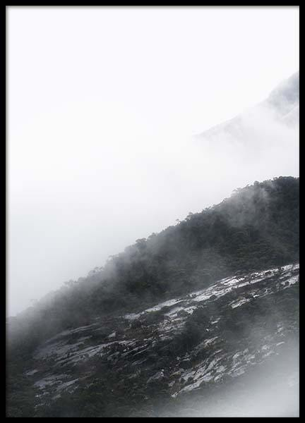 Foggy mountain Poster in the group Prints / Sizes /  at Desenio AB (8796)