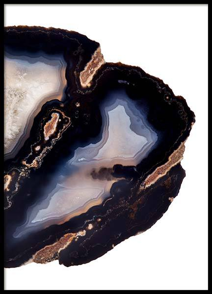 Dark Agate two Poster in the group Prints / Sizes / 70x100cm | 28x39