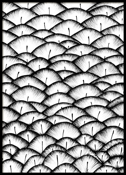 Feather Pattern Poster in the group Prints / Art prints at Desenio AB (8832)