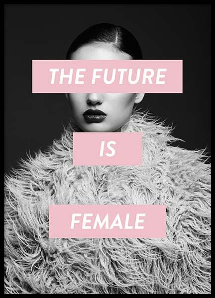 Future is female Poster in the group Prints / Sizes / 50x70cm | 20x28 at Desenio AB (8834)