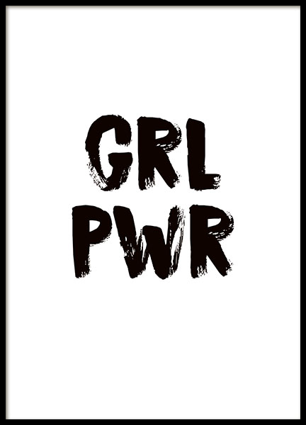 Girl power Poster in the group Prints / Sizes /  at Desenio AB (8835)