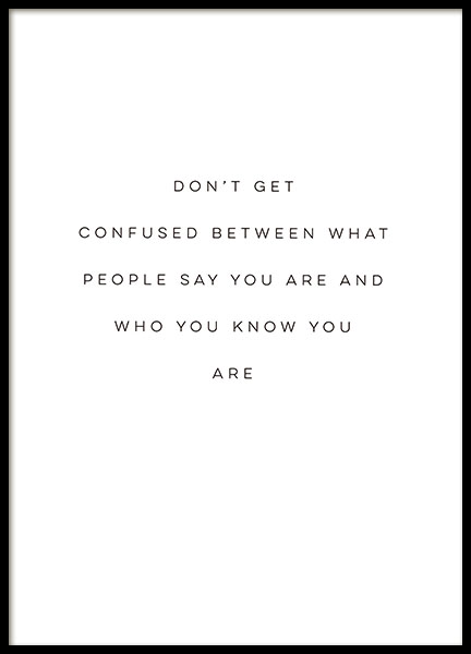 Who You Are Poster in the group Prints / Typography & quotes at Desenio AB (8856)