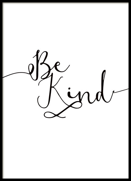 Be Kind Poster in the group Prints / Typography & quotes at Desenio AB (8864)