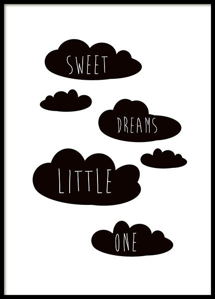 Sweet Dreams Little One Poster in the group Prints / Kids wall art at Desenio AB (8871)