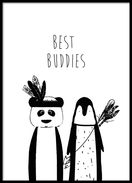 Best Buddies Poster in the group Prints / Kids posters at Desenio AB (8876)