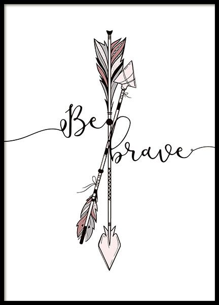 Brave Arrows Poster in the group Prints / Kids posters at Desenio AB (8877)
