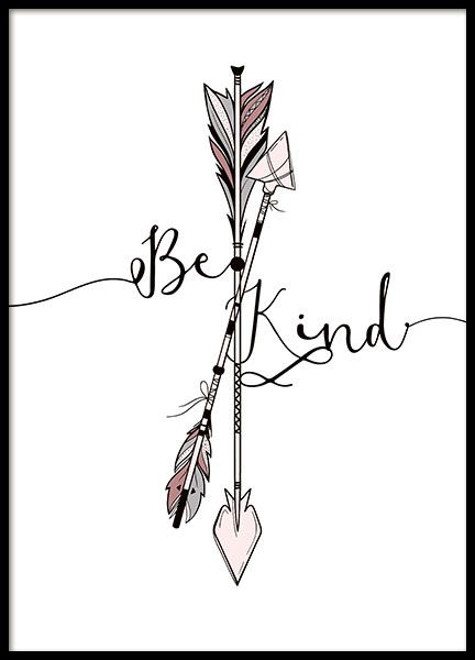 Kind Arrows Poster in the group Prints / Kids posters at Desenio AB (8878)