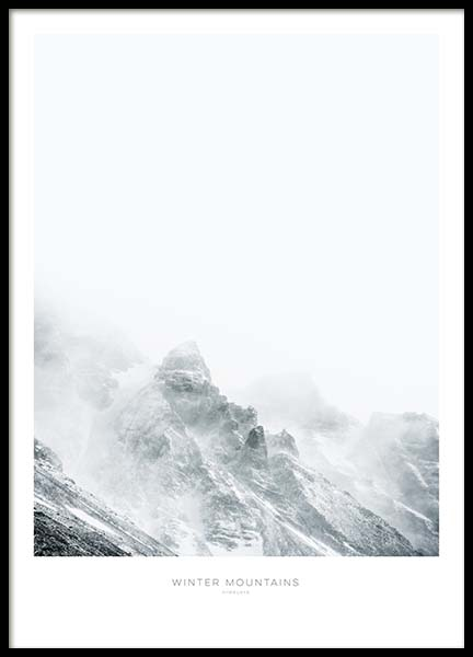 Winter Mountains Poster in the group Prints / Sizes / 50x70cm | 20x28 at Desenio AB (8884)