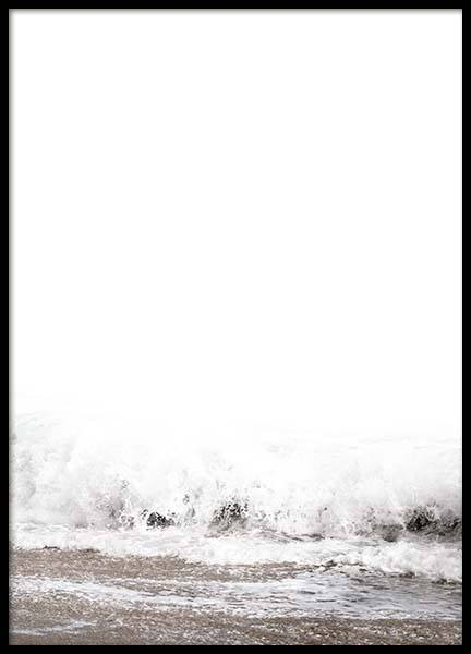 Beach Wave Poster in the group Prints / Nature at Desenio AB (8888)