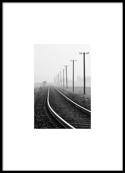 Train Tracks Poster in the group Prints / Photographs at Desenio AB (8907)