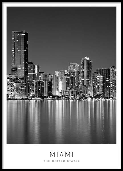 Miami Poster in the group Prints / Maps & cities at Desenio AB (8918)