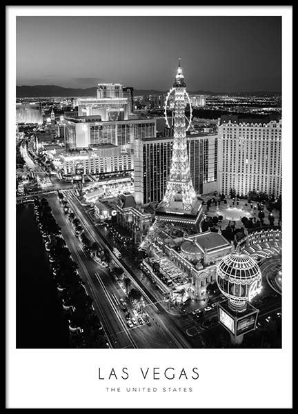 Las Vegas Poster in the group Prints / Maps & cities at Desenio AB (8922)