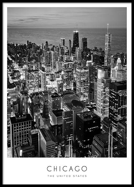 Chicago Poster in the group Prints / Black & white at Desenio AB (8923)