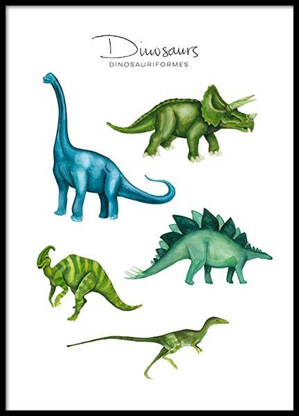 Dinosaurs Poster in the group Prints / Animals at Desenio AB (8990)