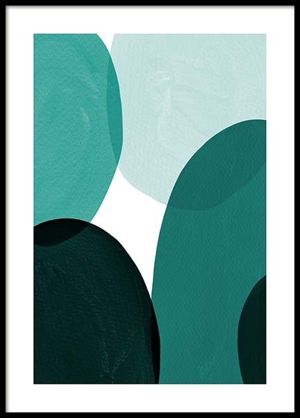 Green Shapes Poster in the group Prints / Graphical at Desenio AB (8996)