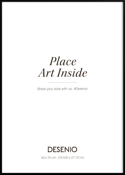 Metal frame Black, 50x70 in the group Picture frames / Sizes / 50x70cm | 20x28 at Desenio AB (9005-5070)