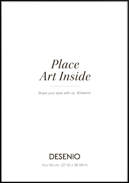 Metal frame Black, 70x100 in the group Picture frames / Sizes / 70x100cm | 28x39 at Desenio AB (9005-70100)