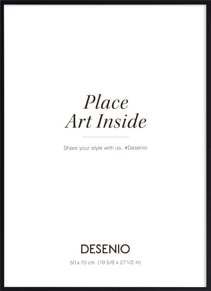 Black picture frame (50x70) plexi in the group Picture frames / Sizes / 50x70cm | 20x28 at Desenio AB (AASP-50104)