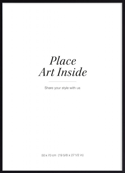 Black picture frame, 50x70 in the group Picture frames / Black frames at Desenio AB (AASP50104)