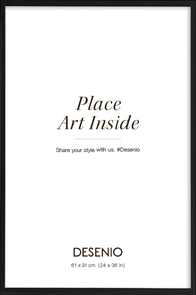 Black picture frame, 61x91 in the group Picture frames / Sizes / 61x91cm | 24x36 at Desenio AB (AASP50107)