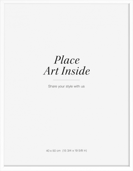 White picture frame, 40x50 in the group Picture frames / Sizes / 40x50cm | 16x20 at Desenio AB (AAVP50111)
