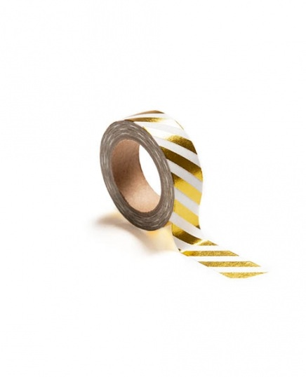 Washi tape, gold stripes in the group Accessories / Washi tape at Desenio AB (TAPE100168)
