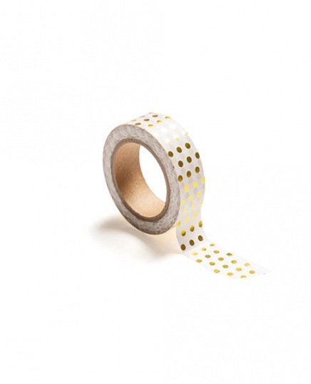 Washi tape, polka dot gold / Washi tape at Desenio AB (TAPE100173)