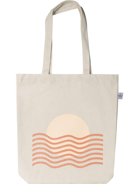 Sunset Waves Tote Bag