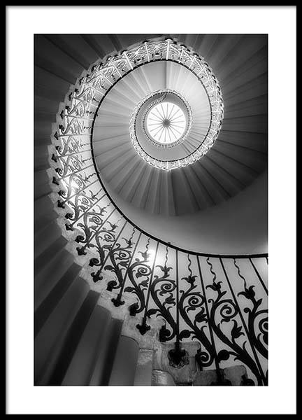 Shc - Staircase Poster in the group Prints / Black & white at Desenio AB (co0004)