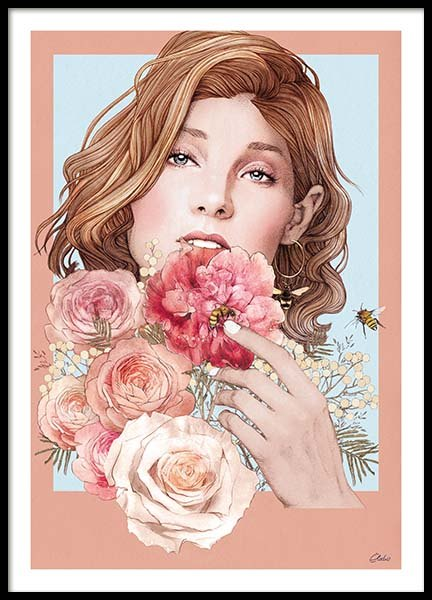 Bouquet Poster in the group Prints / Illustrations at Desenio AB (co0007)
