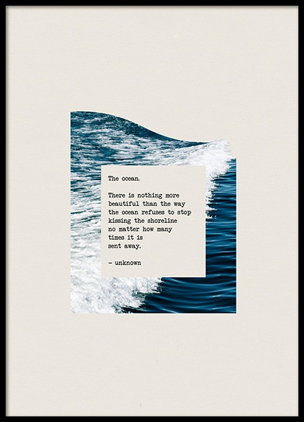 The Ocean Poster in the group Prints / Graphical at Desenio AB (co0038)