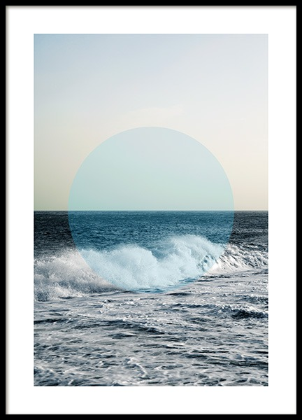 Circle of Ocean Poster in the group Prints / Photographs at Desenio AB (co0047)