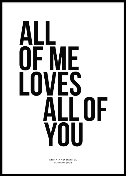 All of Me Personal Poster in the group Prints / Personalised prints at Desenio AB (pp0001)