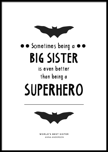 Big Sister Personal Poster in the group Prints / Personalised prints at Desenio AB (pp0004)